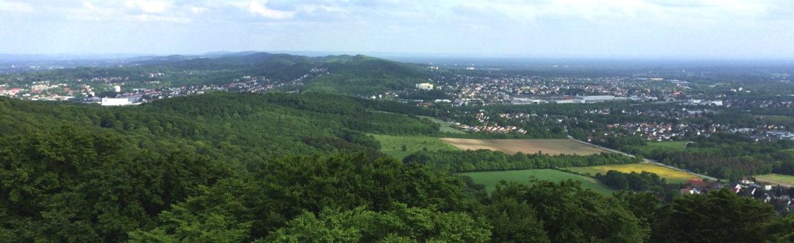 Blick von der Hühnenburg, Bielefeld
