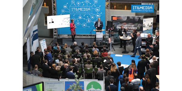 Bühne 1 auf dem IT&MEDIA FUTUREcongress in Darmstadt, © 2016 AMC Media Network GmbH & Co. KG