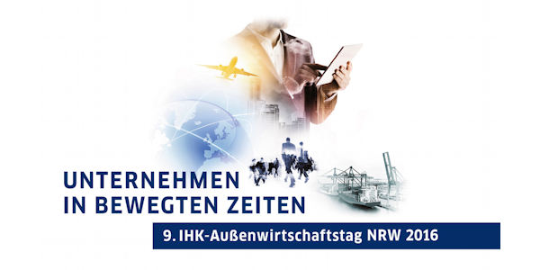 Key-Visual 9. IHK-Außenwirtschaftstag NRW 2016, ©IHK Ostwestfalen 2016