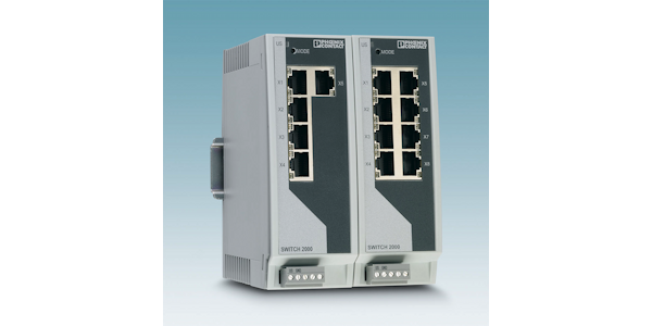 Serie FL Switch 2000 – Switches für stabile Maschinennetzwerke von Phoenix Contact