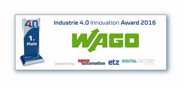 "WAGO ist Gewinner des ""Industrie 4.0 Innovation Award 2016"", ©WAGO 2016"