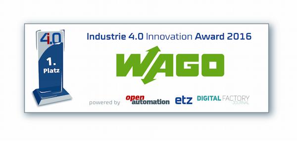 """WAGO gewinnt """"Industrie 4.0 Innovation Award"""" für das DIMA-Konzept"""