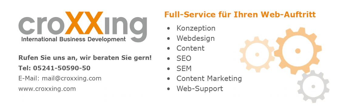 Anzeige croXXing Web-Service