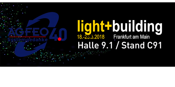 AGFEO Systemgedanke 4.0 auf der light + building 2018 in Frankfurt